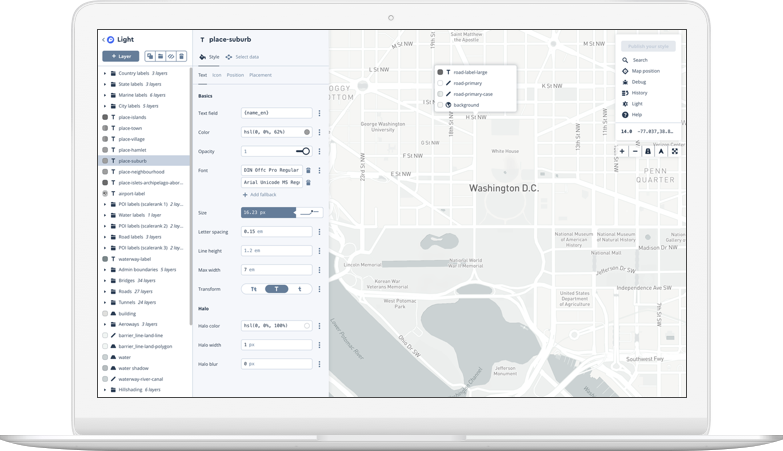 notebook with mapbox studio